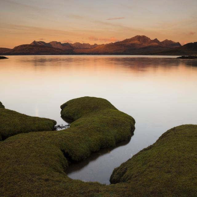 """""""Sunrise mountains and sea"""" stock image"""