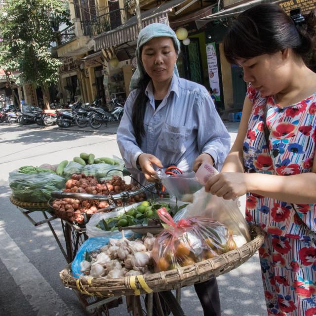 """Herbal Merchants, Old Quarter, Hanoi, Vietnam"" stock image"