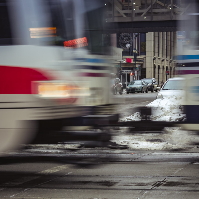 """Speeding train passing by"" stock image"