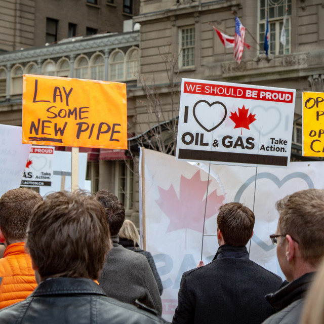 """Oil and gas protesters"" stock image"