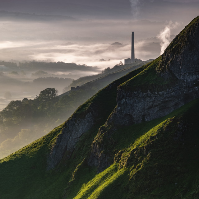 """""""Hope Valley Misty Morning"""" stock image"""