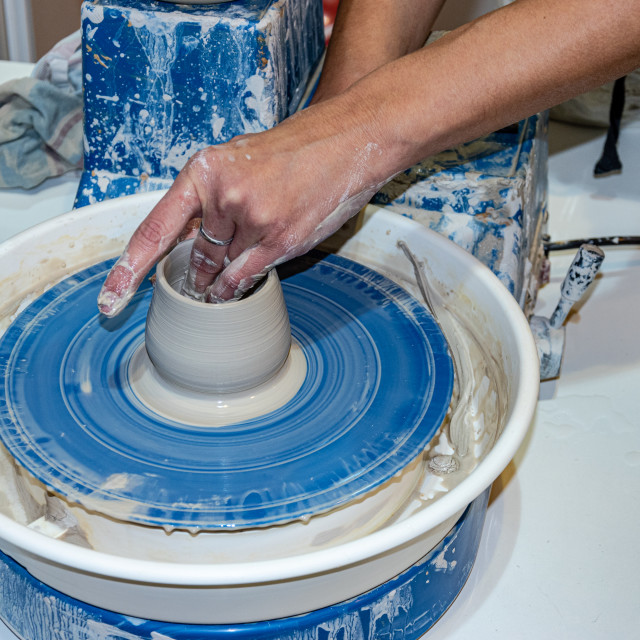 """Making pottery"" stock image"