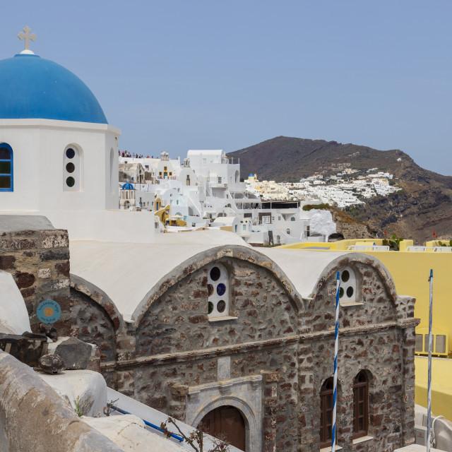 """Church at Oia Town Santorini Greece"" stock image"