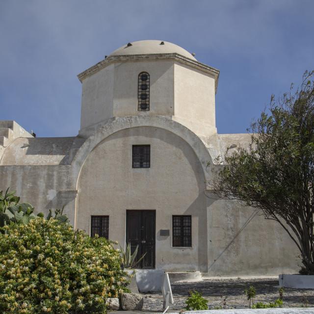 """Church at Pyrgos Village"" stock image"