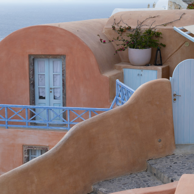 """""""Ping Building at Oia"""" stock image"""