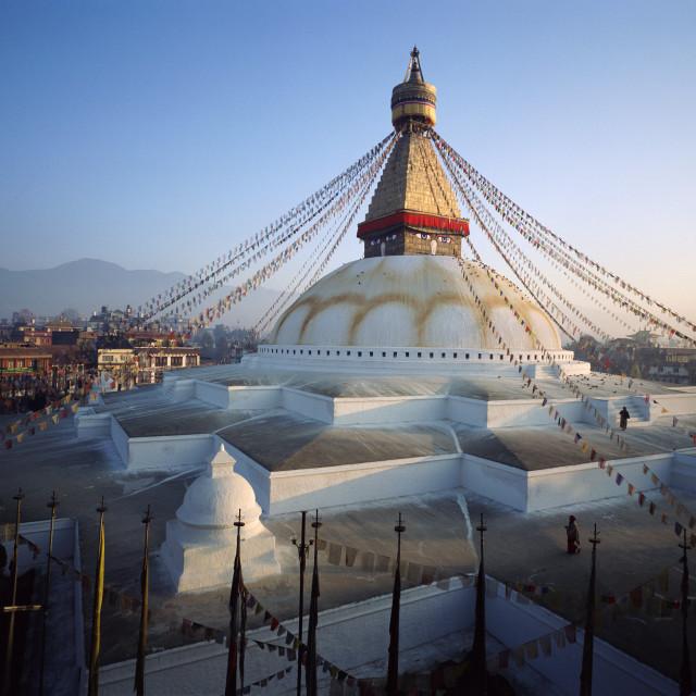 """""""Boudhanath Stupa, Kathmandu, Nepal"""" stock image"""
