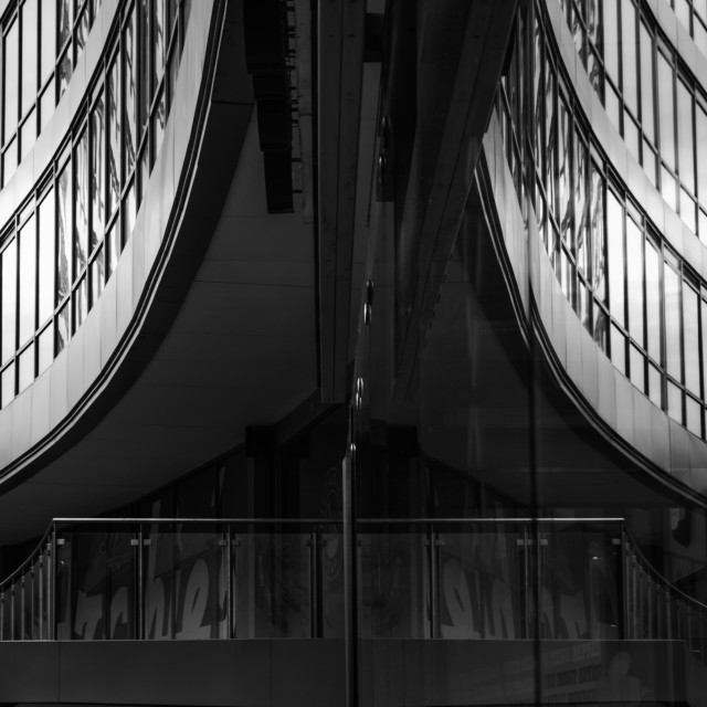 """""""Curvy reflections, Manchester."""" stock image"""