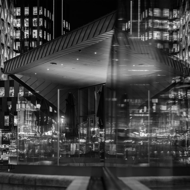 """""""Linear reflections, Manchester"""" stock image"""