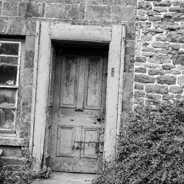 """Old Cottage Doorway"" stock image"