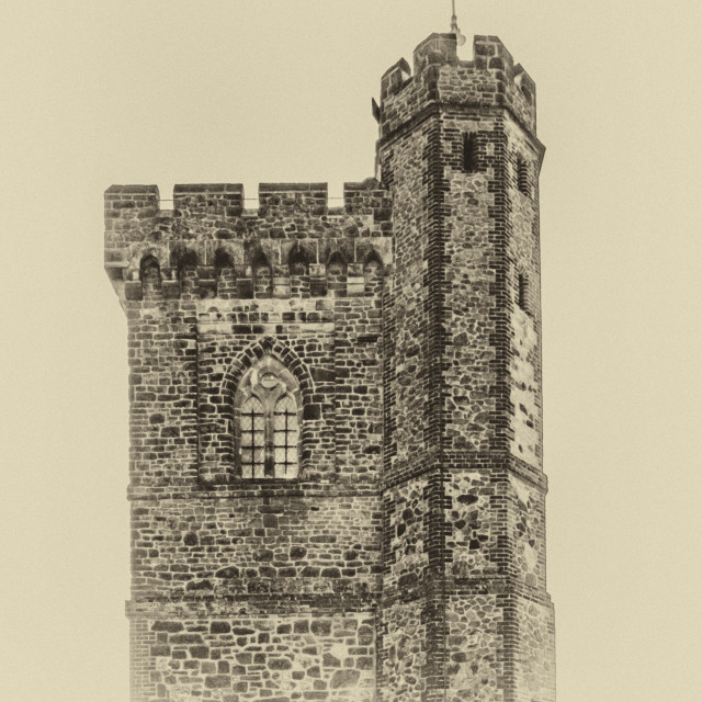 """Leith Tower, Surrey. Vintage"" stock image"