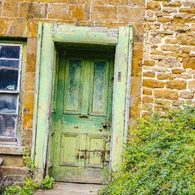"""Old Cottage Doorway"" stock image"