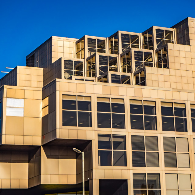 """Golden Office Building"" stock image"