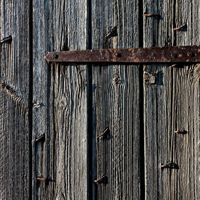 """Iron Hinge And Twisted Nails"" stock image"