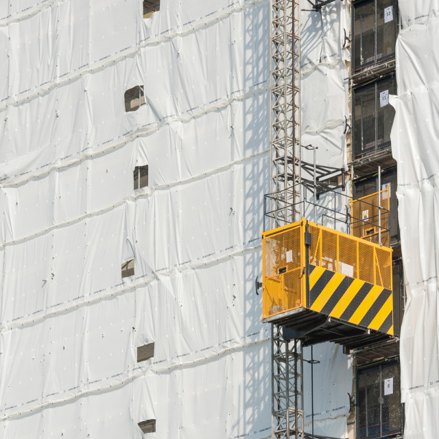 """tower block construction elevator"" stock image"