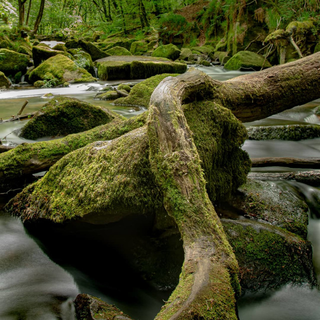 """Cornwall waterfalls"" stock image"