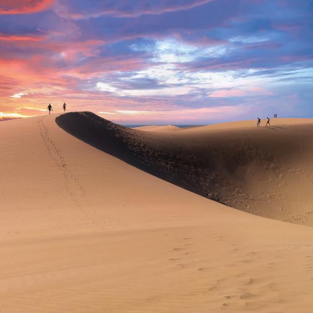"""Maspalomas Dunes in Gran Canaria, Sapin"" stock image"
