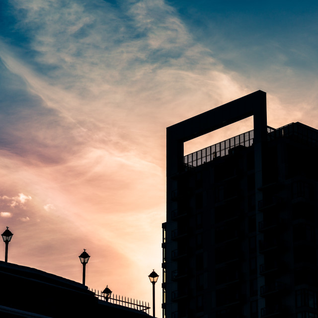 """Silhouette of a building"" stock image"