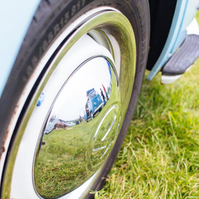 """VW Camper wheel"" stock image"