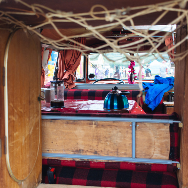"""VW Camper Interior"" stock image"