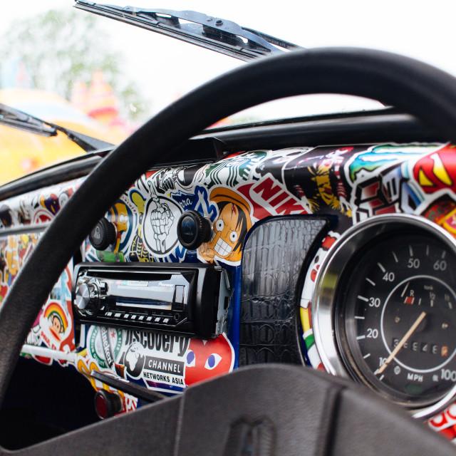 """VW Beetle Interior"" stock image"