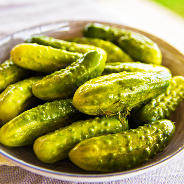 """""""Homemade marinade cucumbers with spices"""" stock image"""