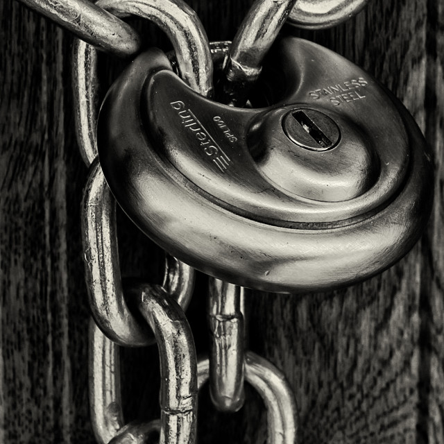 """Padlock and Chain"" stock image"