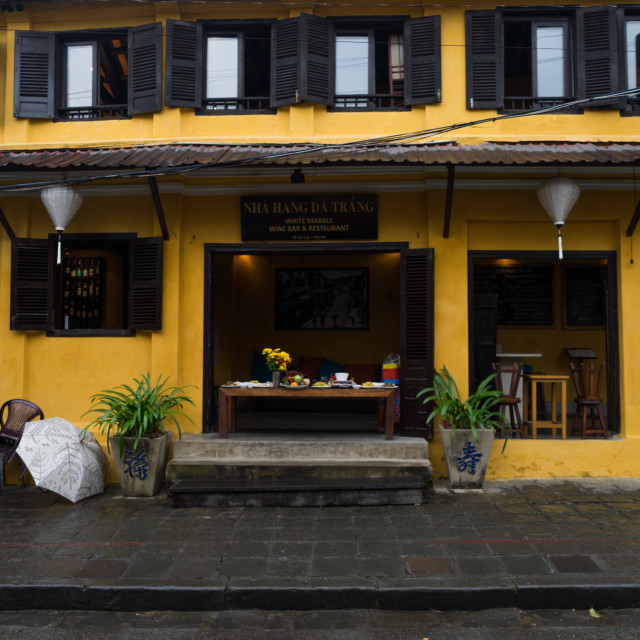 """Corners of the ancient town Hoi an in Vietnam."" stock image"
