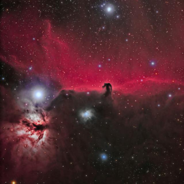 """Horsehead and Flame Nebula (Orion)"" stock image"