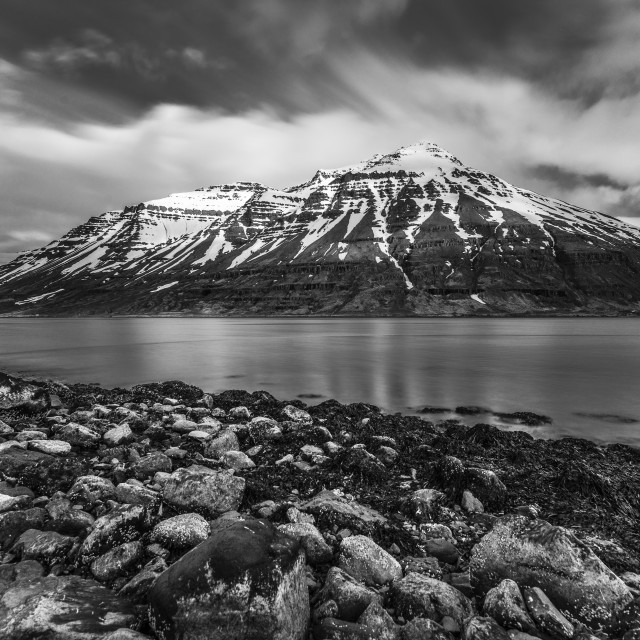 """Cold Spring Day at East Fjords"" stock image"