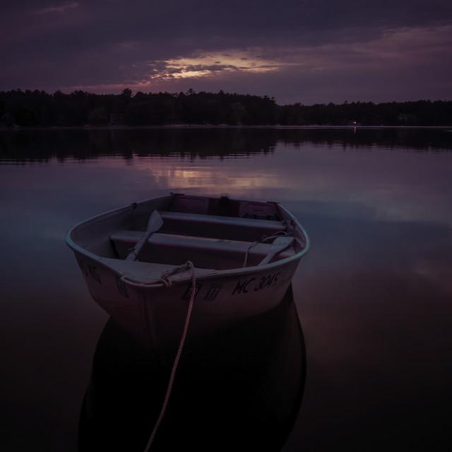 """Dusk at the Lake"" stock image"