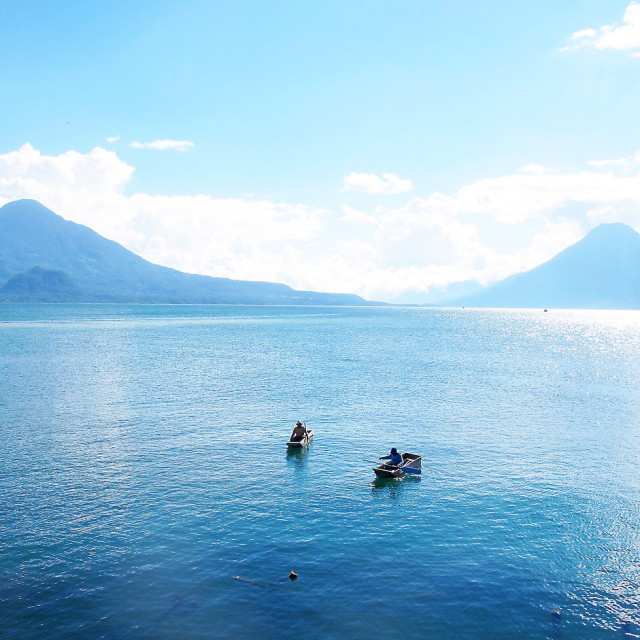 """Lake Atitlan (Lago de Atitlan) in Guatemala."" stock image"