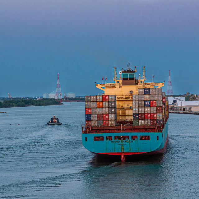 """""""Maersk Gairloch Freighter"""" stock image"""