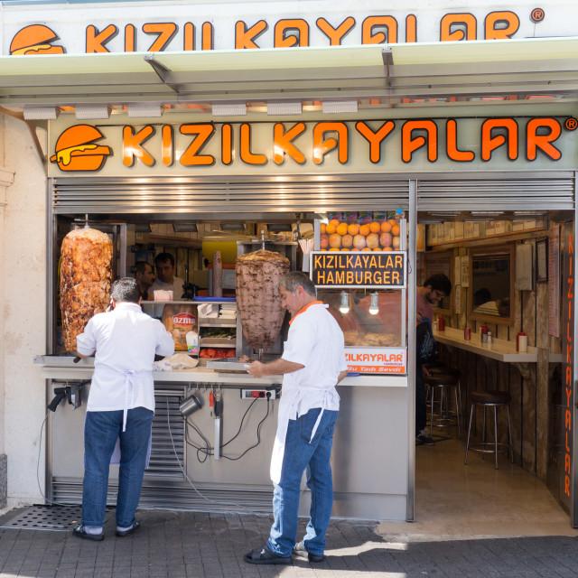 """""""Kebab shop"""" stock image"""