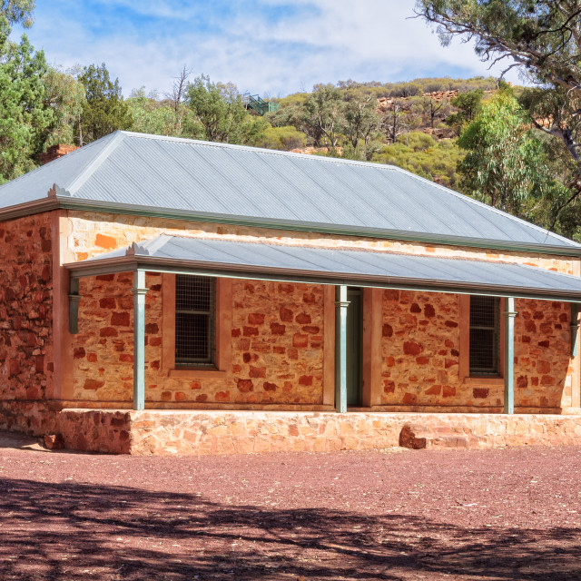 """Old Hills Homestead - Wilpena Pound"" stock image"
