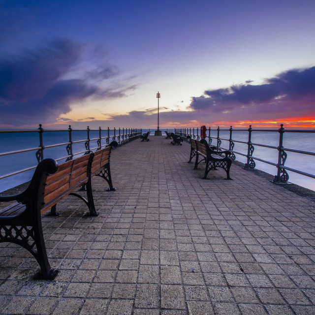 """""""Swanage in Winter"""" stock image"""