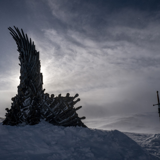 """""""Throne of the North, hidden HBO throne from Game of Thrones"""" stock image"""