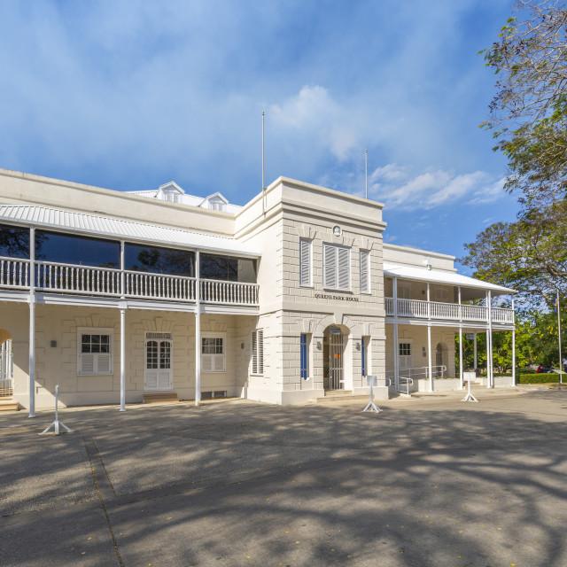 """View of Queens Park House in Queens Park, Bridgetown, Barbados, West Indies,..."" stock image"