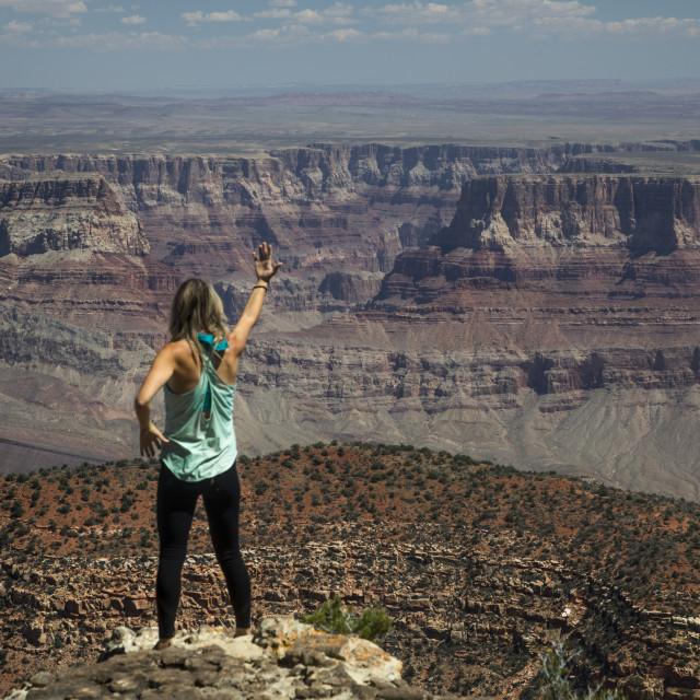 """""""Woman At Grand Canyon"""" stock image"""