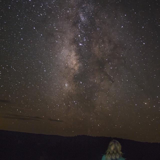 """Grand Canyon Milky Way"" stock image"