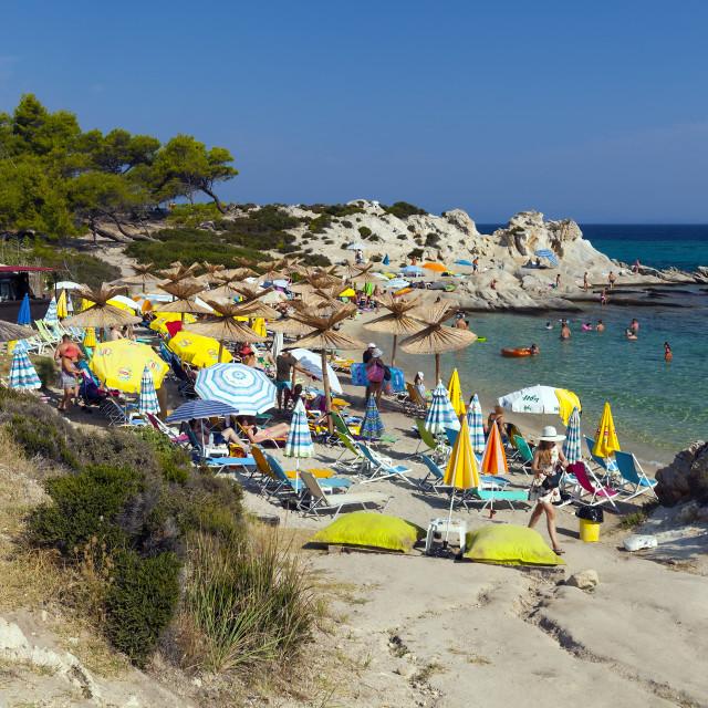 """""""Orange (Portokali) Beach, Sithonia, Greece"""" stock image"""