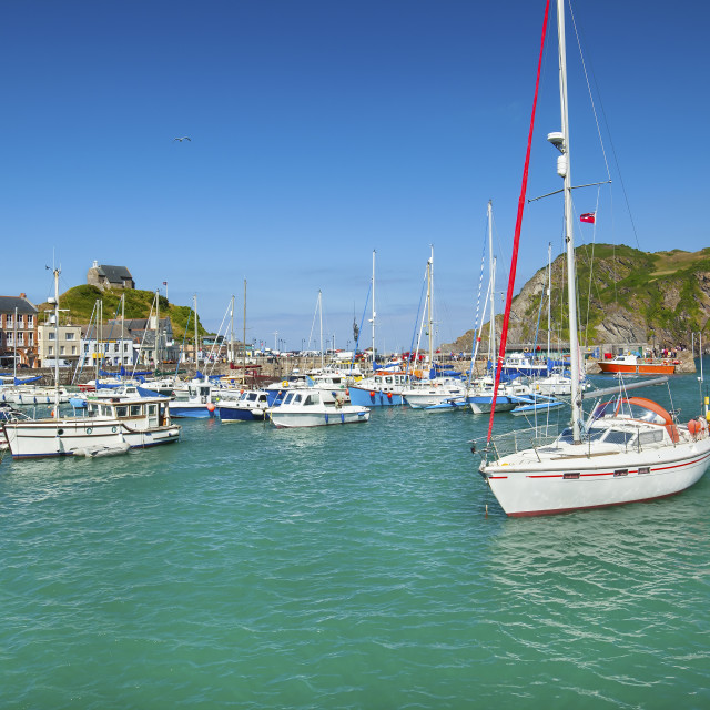 """Ilfracombe Harbour, North Devon, England, UK"" stock image"