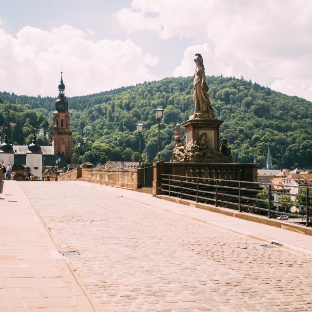 """Old Bridge Heidelberg"" stock image"