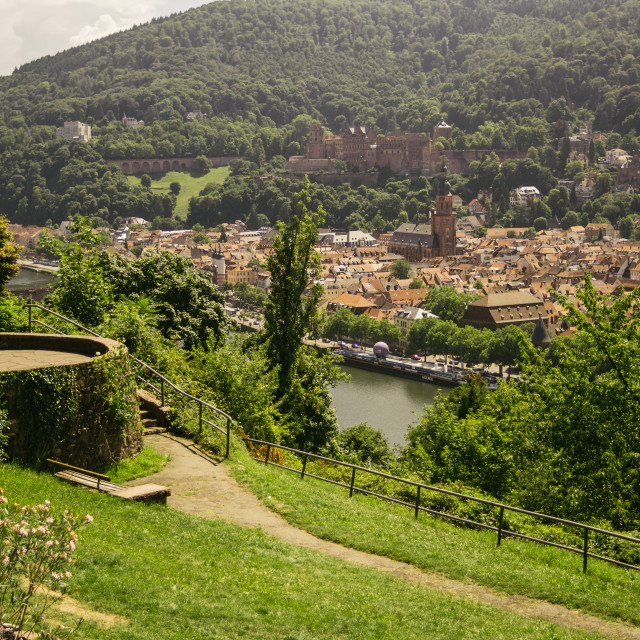 """Philosophenweg Heidelberg"" stock image"