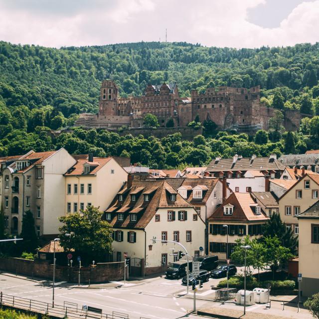 """Old Town Heidelberg"" stock image"