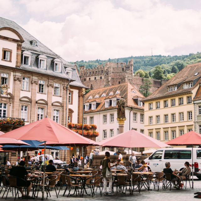 """Heidelberg Marktplatz"" stock image"