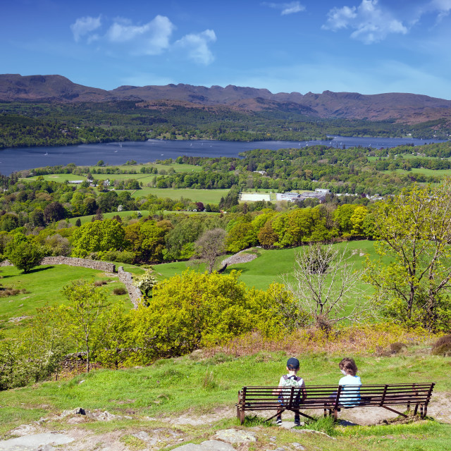"""Windermere, Lake District, England, UK"" stock image"