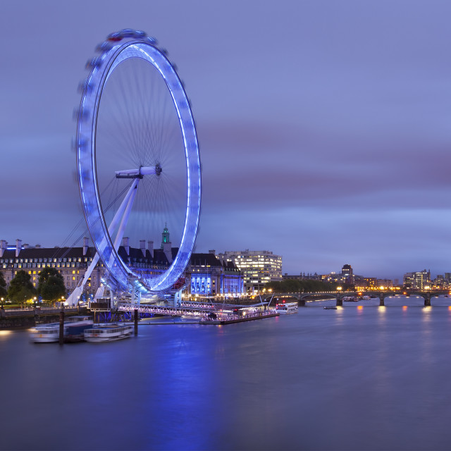 """The London Eye, England, UK"" stock image"