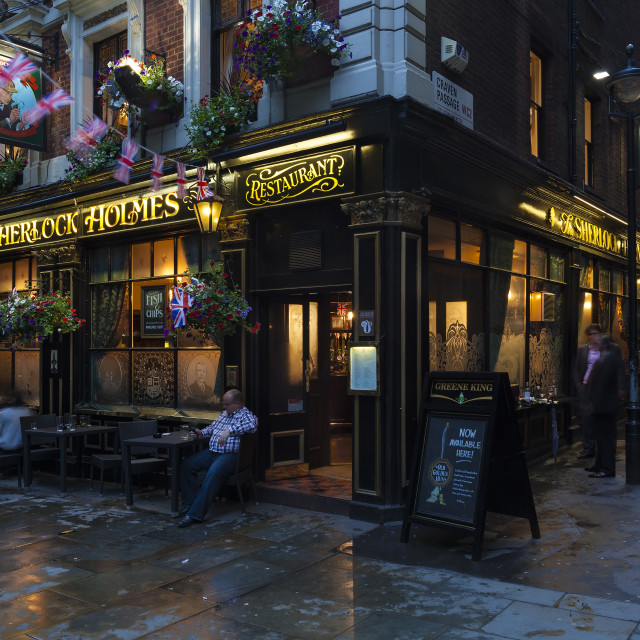 """The Sherlock Holmes Pub in London, England, UK"" stock image"