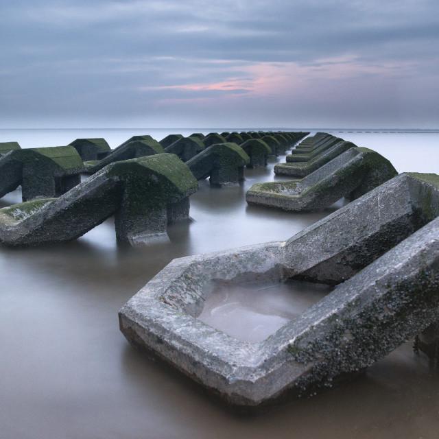 """""""New Brighton Groynes"""" stock image"""
