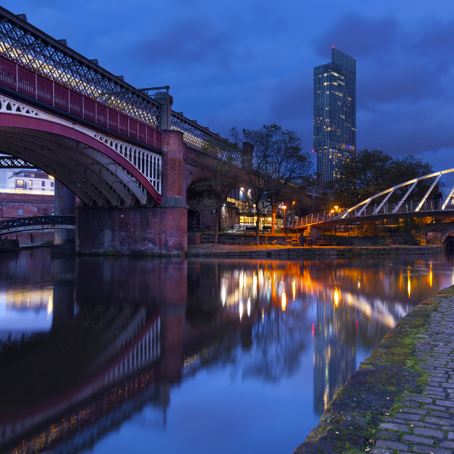 """Castlefield And The Beetham Tower in Manchester, England, UK"" stock image"